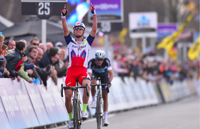 Kristoff taking home the 2015 Tour of Flanders